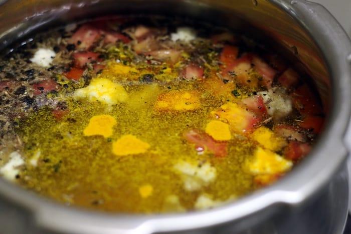 cauliflower rasam recipe step2
