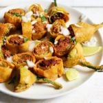 Cut mirchi bajji recipe | Andra style stuffed mirchi bajji