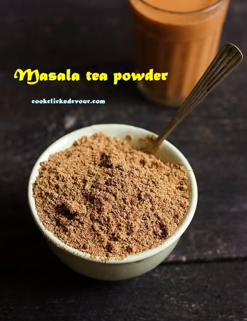 tea masala powder, chai masala powder