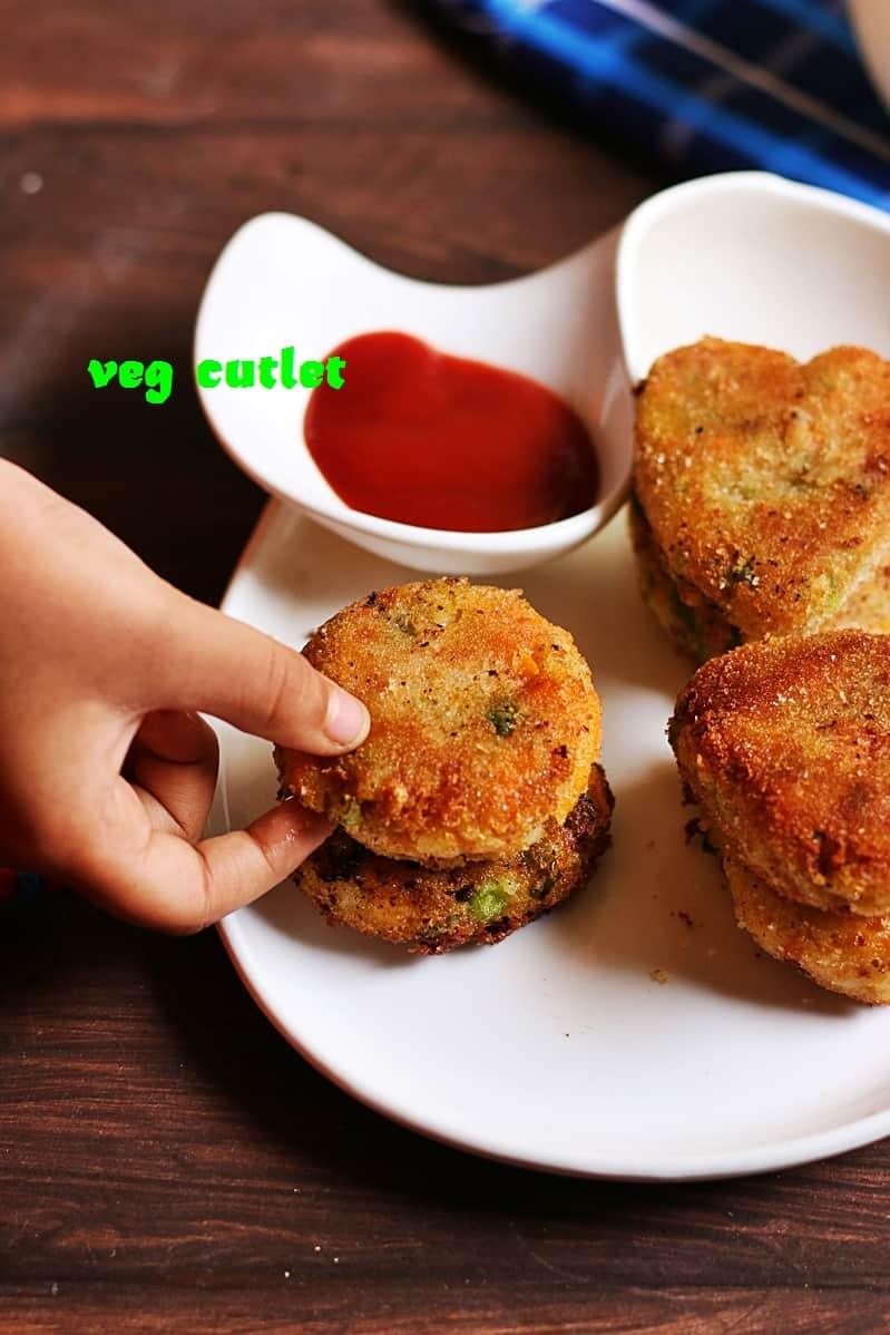 veg cutlet recipe, how to make cutlet