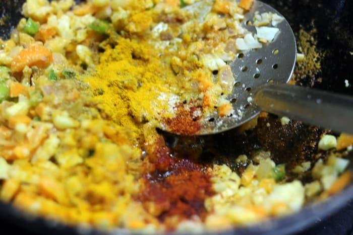 kheema masala recipe, veg kheema recipe