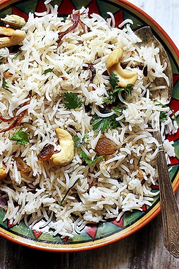 ghee rice served warm