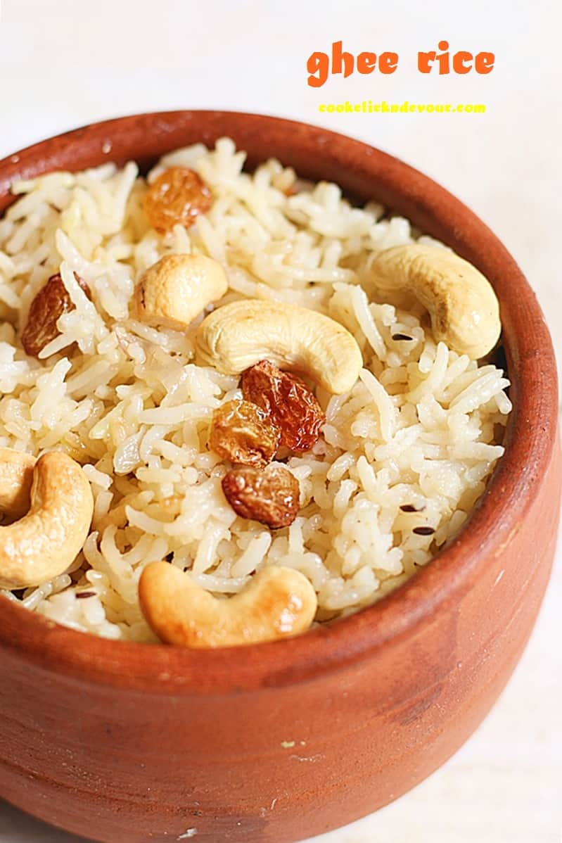 ghee rice recipe, how to make ghee rice
