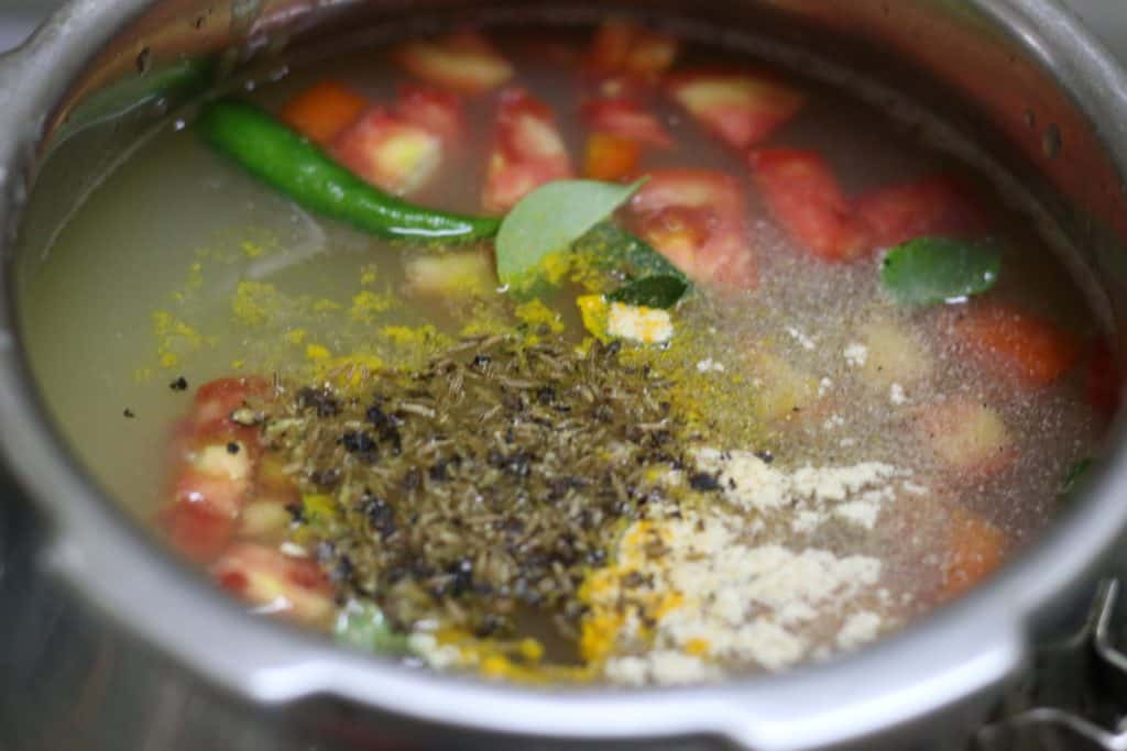 paruppu rasam recipe step 6
