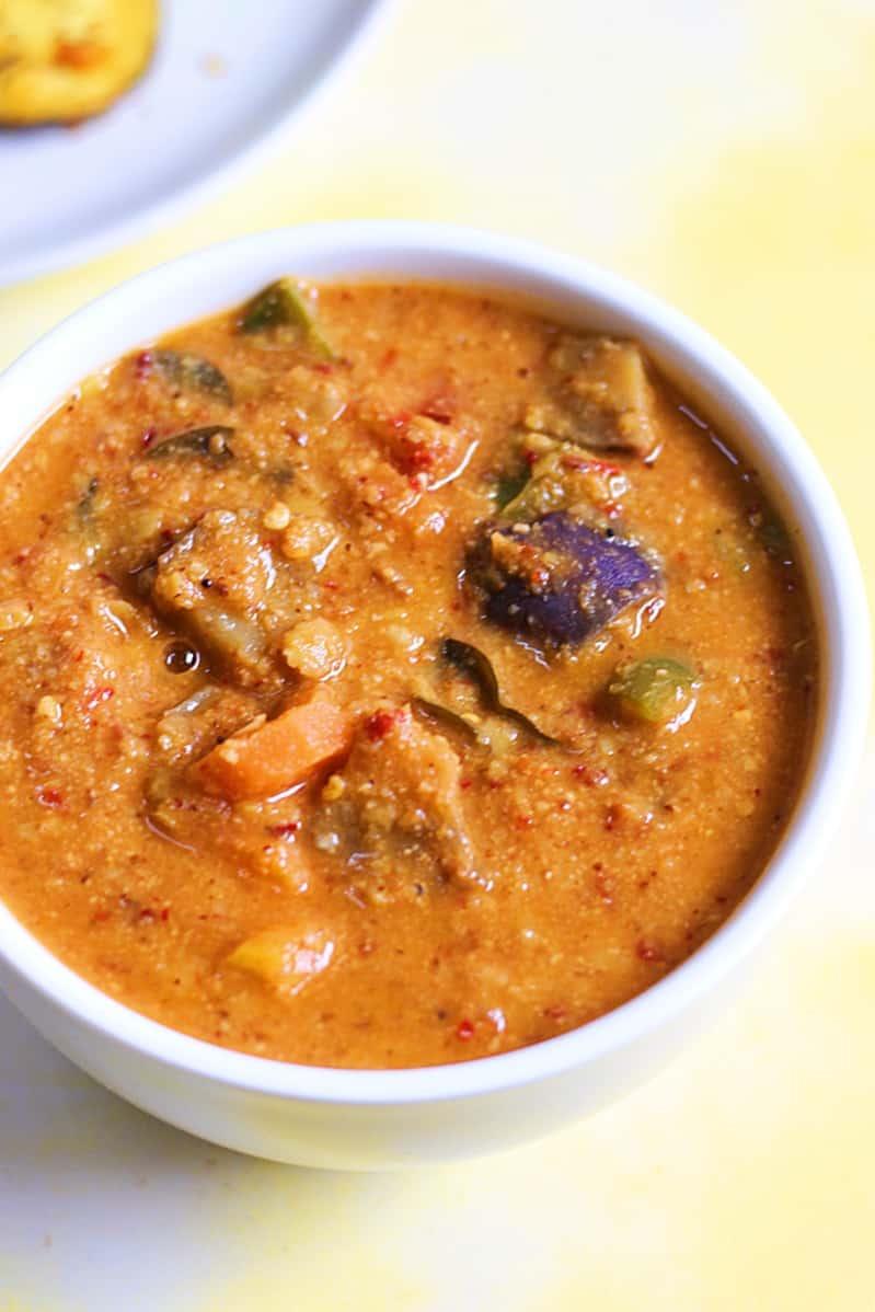 varutharacha sambar recipe a