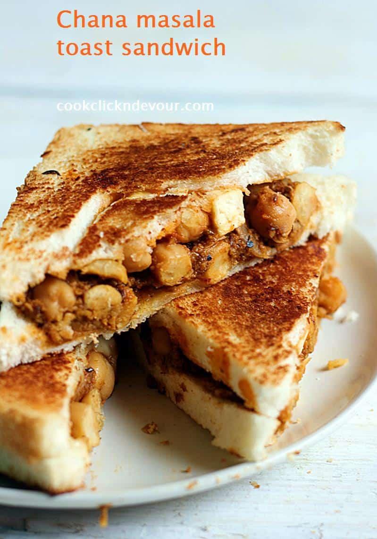 how to make chana masala sandwich