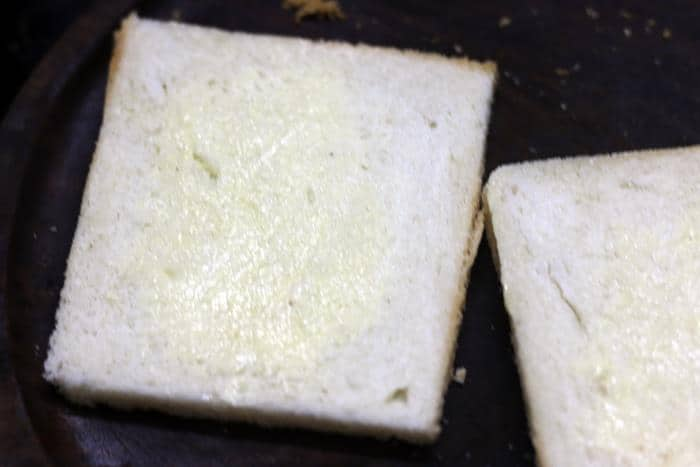 buttered bread slice