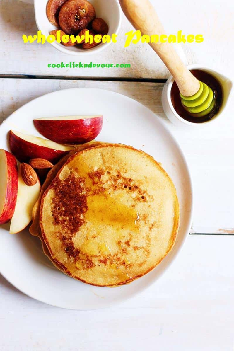 whole wheat fluffy pancakes