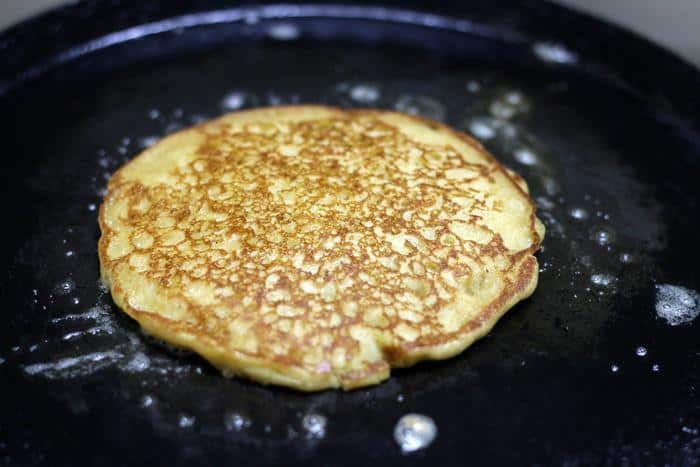 Eggless pancake ready