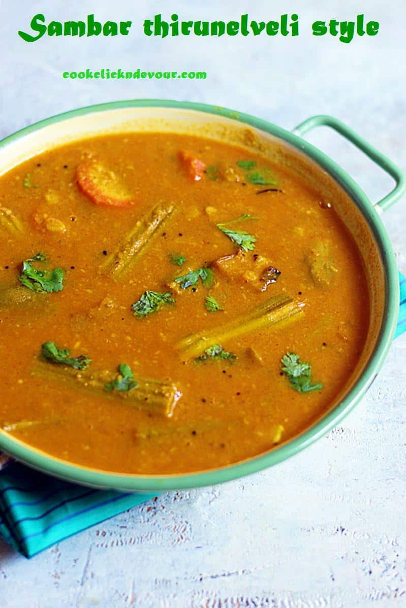 How to make nellai sambar recipe