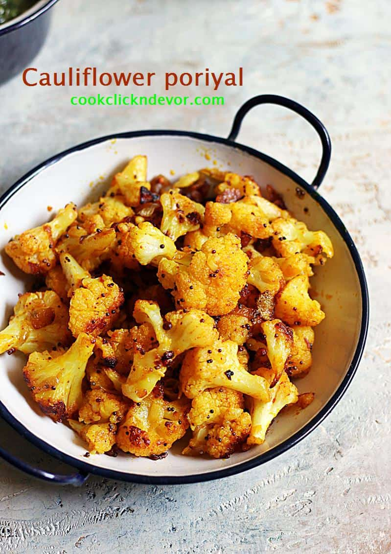 cauliflower poriyal recipe