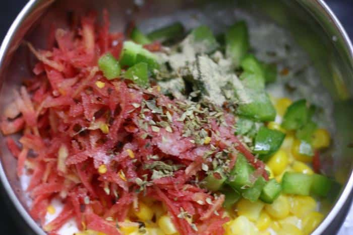 vegetables for curd sandwich recipe