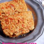 easy eggless carrot cake recipe with whole wheat flour