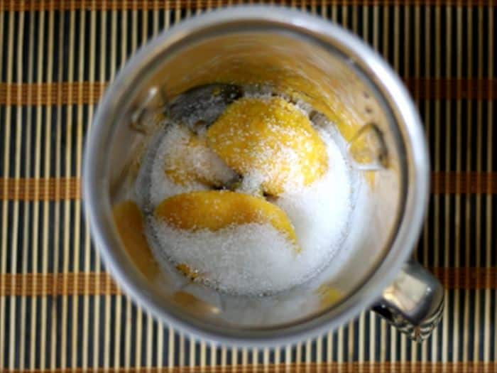 mango pulp and sugar for aam papad recipe
