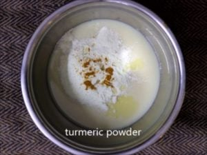 mixing condensed milk with butterscotch essence for making homemade butterscotch ice cream recipe