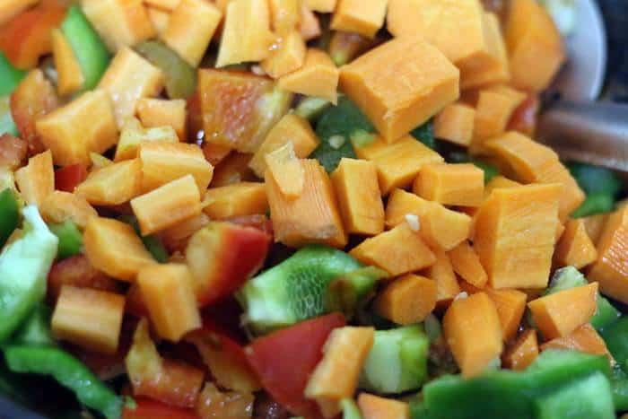 vegetables added