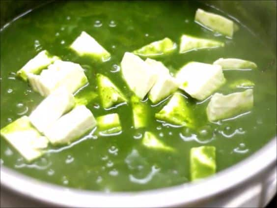 Easy palak paneer recipe steps