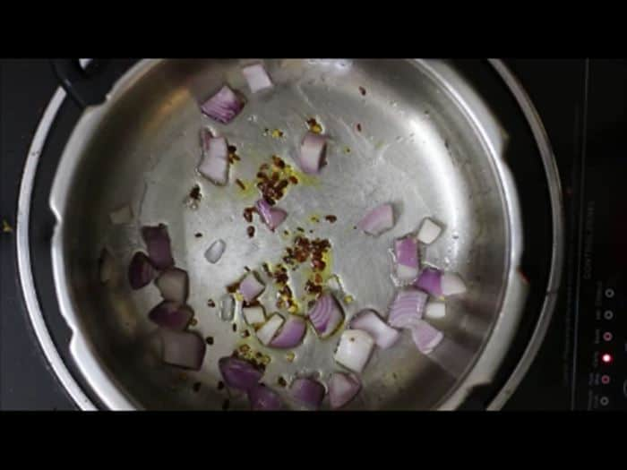 sauteing onions for vegetable pasta recipe, veg pasta recipe