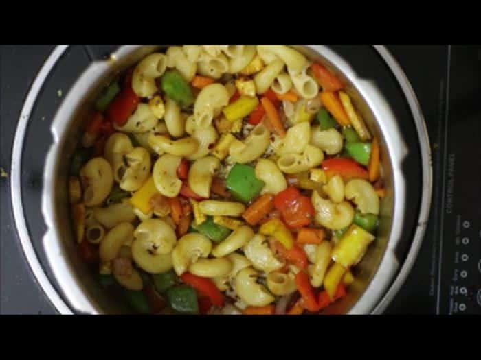 pasta added to make veg pasta recipe