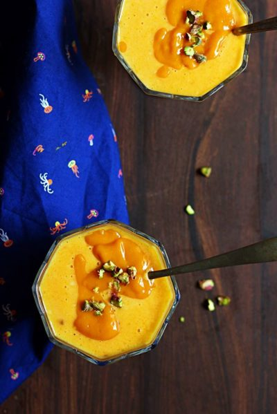 how to make mango custard recipe