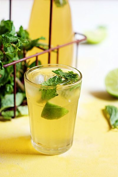 Mint Lemonade Recipe- healthy and refreshing mint lemon juice recipe for summers