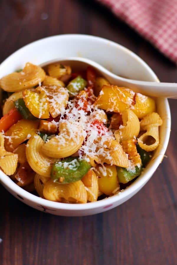 how to make easy vegetable pasta, veg pasta recipe