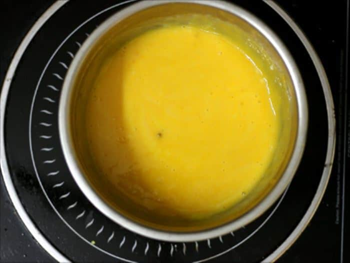 making mango custard recipe