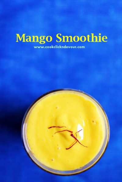 Healthy vegan mango smoothie recipe
