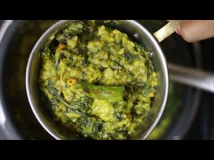 Making Manathakkali Keerai Kootu Recipe