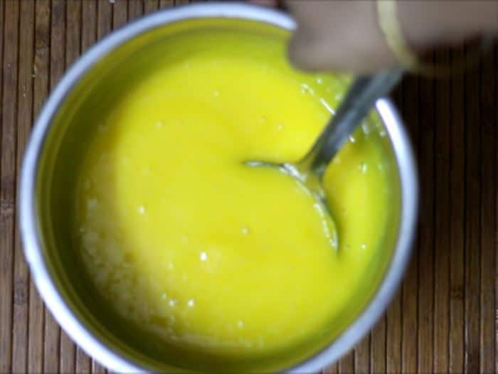 Making Homemade mango frooti recipe