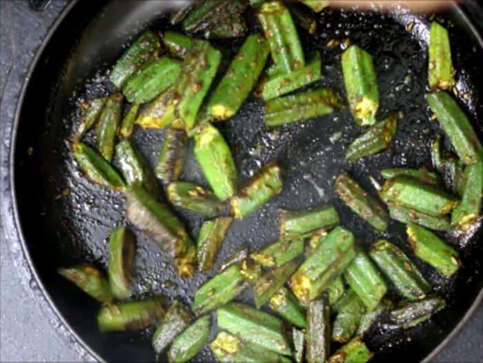 bhindi fry ready