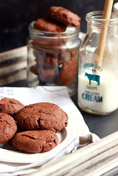 double chocolate cookies recipe, eggfree double chocolate chip cookies recipe