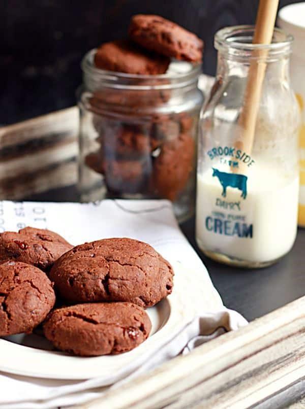 double chocolate cookies recipe, eggfree double chocolate chip cookies recipe