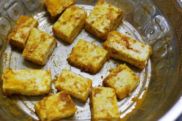 grilled paneer recipe making