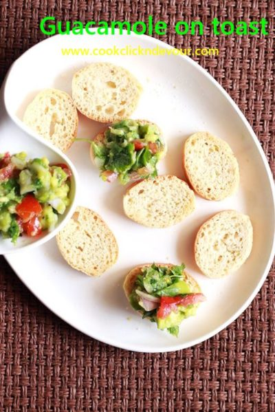 guacamole on toast recipe