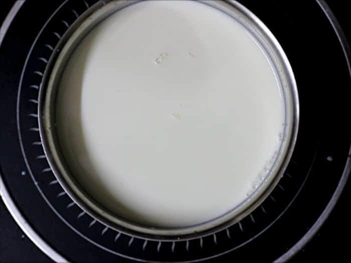 how to make curd at home- preparing milk