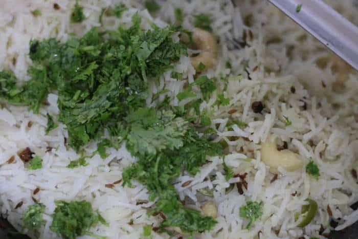 cooked jeera rice recipe