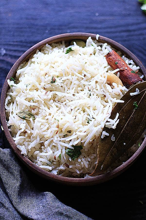 jeera rice ready to serve