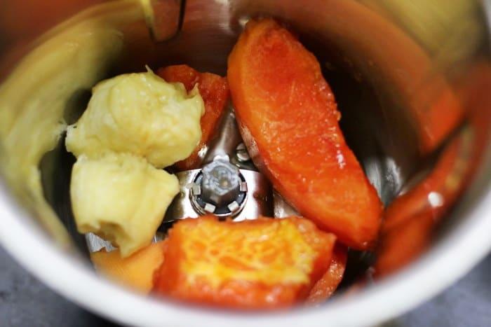 Fruits for making papaya smoothie recipe