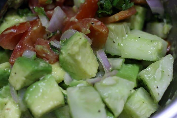avocado salad ready
