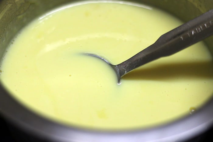 thickened custard sauce for bread butter pudding recipe