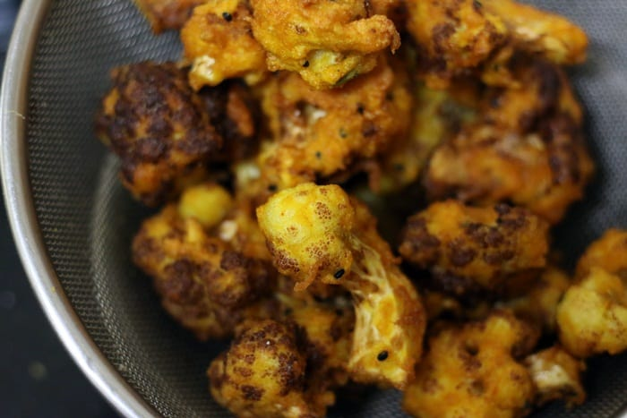 fried gobi ready to be tossed in sauce