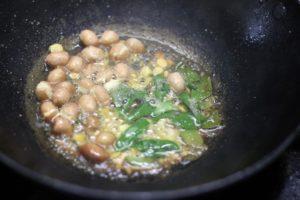 tempering pudalangai kootu recipe
