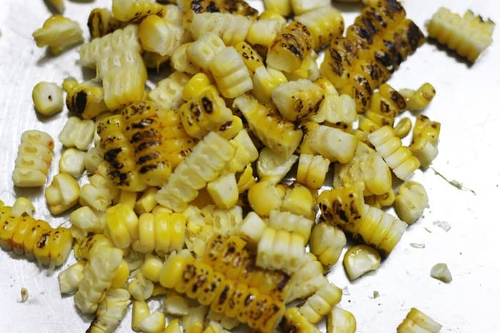 roasted corn kernels for making salad