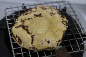 cooking tandoori roti