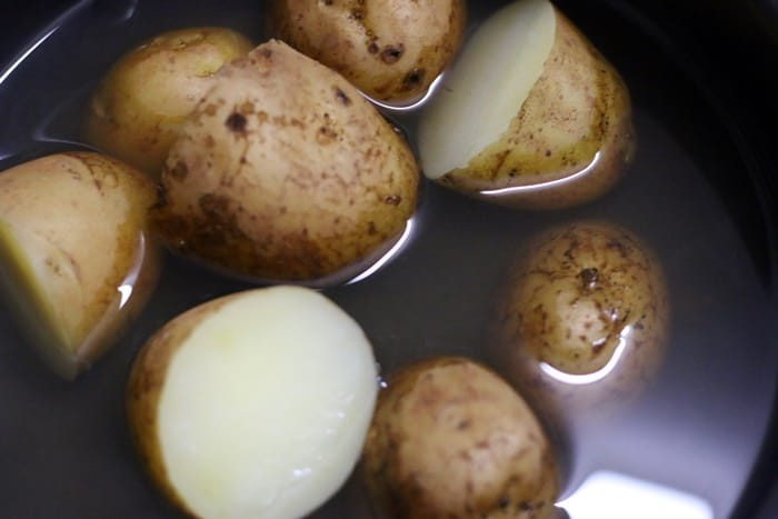 boiling potatoes for aloo matar recipe