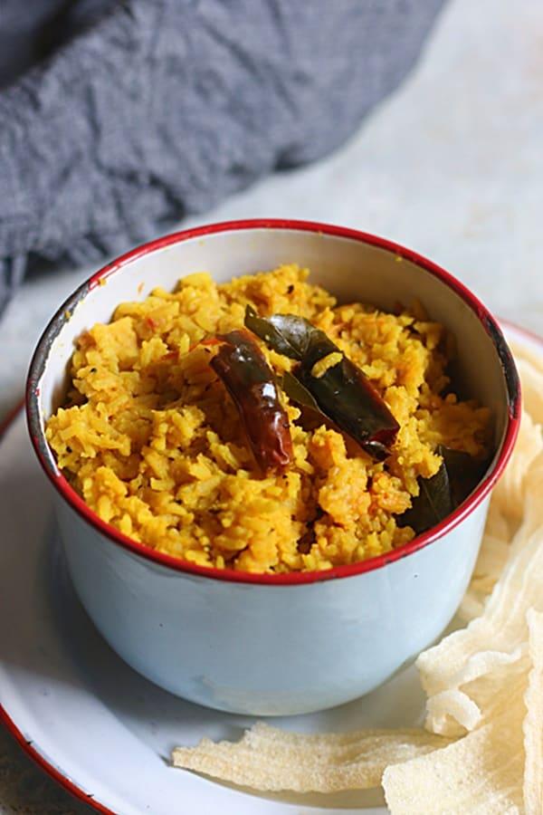 how to make arisi paruppu sadham recipe