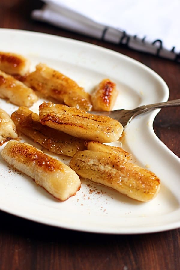 how to make caramelized banana