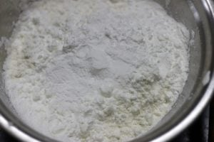 dry ingredients for cake