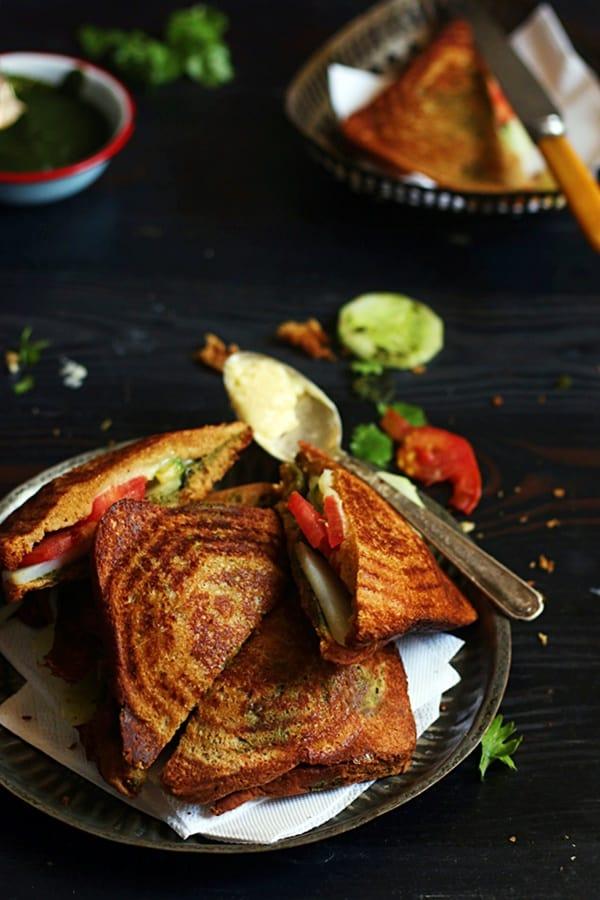 easy veg cheese sandwich recipe for breakfast